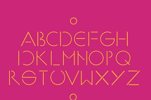 Simple and minimalistic font pink