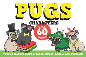 Pugs. Characters.