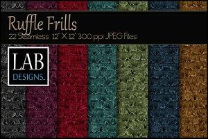 22 Seamless Ruffle Frill Textures