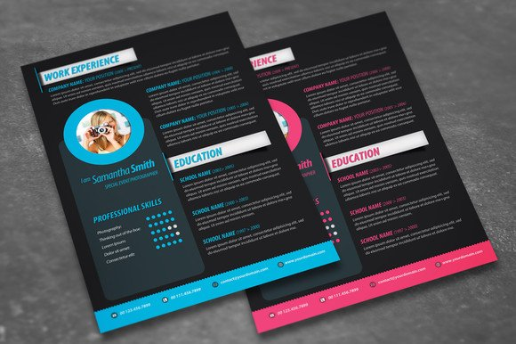 Modern Resume Design Resume Templates on Creative Market – Resume Templates Design