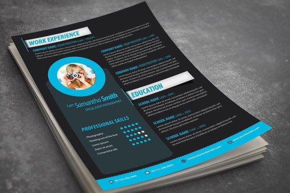 modern resume design resume templates on creative market - Eye Catching Resume Templates