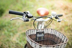 Landscape picture Vintage Bicycle