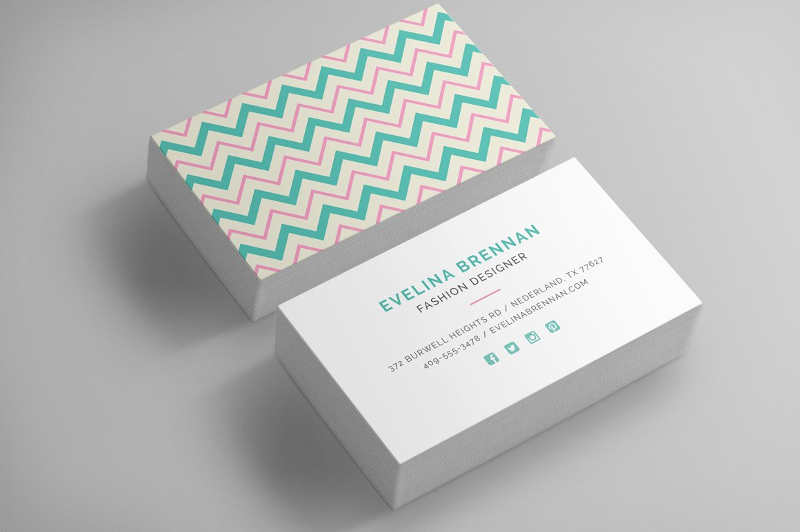 Interior design business cards business card templates 6 chevron business card templates magicingreecefo Image collections