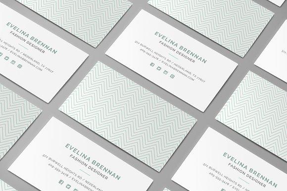 6 Chevron Business Card Templates ~ Business Card Templates ...