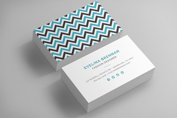 6 Chevron Business Card Templates ~ Business Card Templates ...