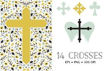 14 Crosses in EPS and PNG
