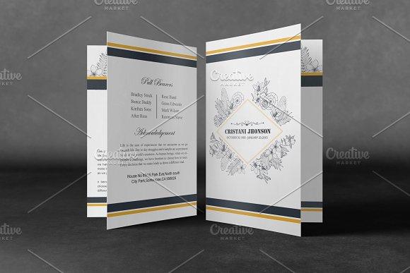 Printable Funeral Program Template Brochure Templates Creative