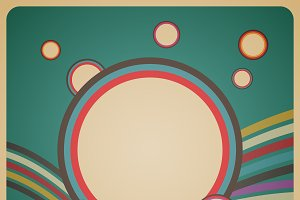 retro circle bubble background
