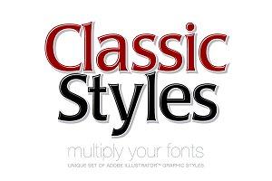 Adobe Illustrator styles Classic