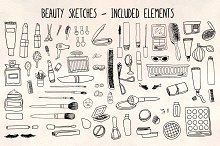 70 Cosmetics, Make Up Beauty Graphic