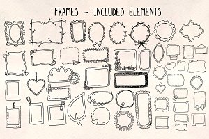48 Photo Frames - Graphics Bundle