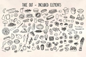 120+ More Kitchen Food Illustrations