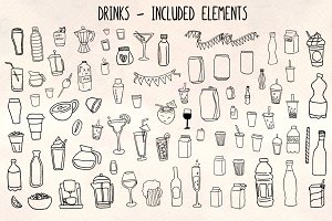 Drinks Beverages 81 Vector Graphics