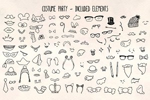 Costumes -103 Dress Up Vector Bundle