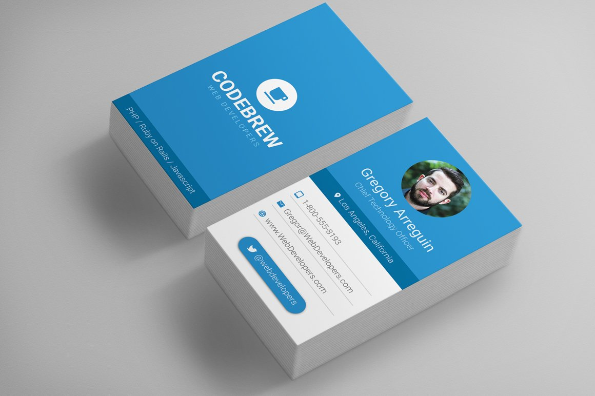 Material design business card templates Photos, Graphics, Fonts ...