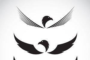 Vector image of an eagle design