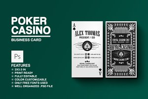 Poker - Casino Business Card