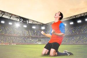 player celebrating goal