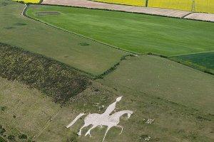 Osmington White Horse Aerial