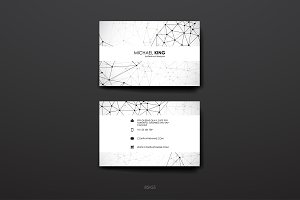 Business Card in Molecular structure