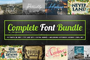 Complete Font Bundle