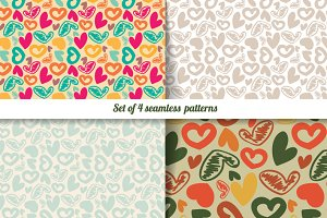 Set of 4  patterns