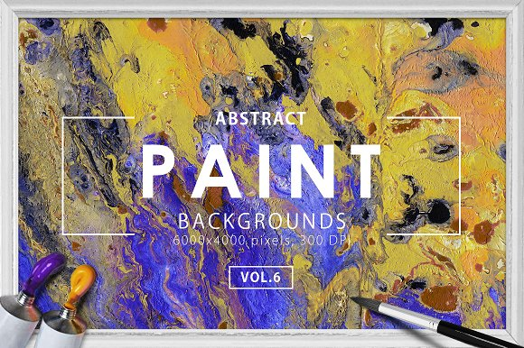 Abstract Paint Backgrounds Vol. 6 - Textures