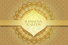 Ramadan graphic background.