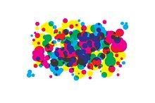 Colored blots cmyk