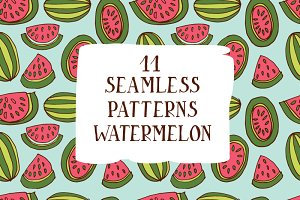 Seamless patterns watermelon