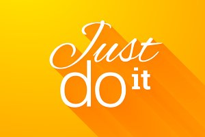 "Lettering phrase ""Just do it"""