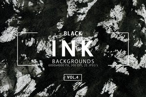 Black Ink Backgrounds Vol. 4