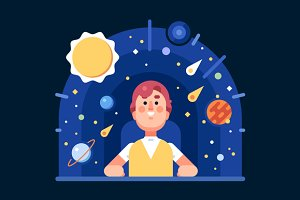 The Man in the Planetarium