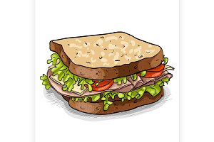 sandwich, color picture