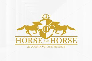 Royal Horse Logo Template