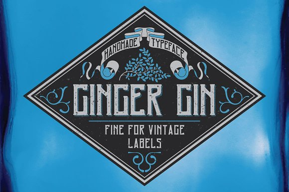 Ginger Gin Label Typeface
