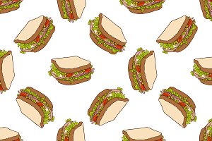 Seamless pattern color sandwich