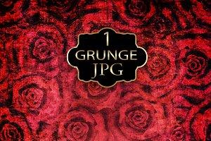 Digital Paper red roses grunge.