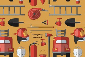 firefighting equipment pattern