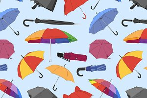 Colorful umbrellas pattern