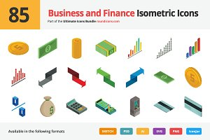 85 Business Isometric Icons