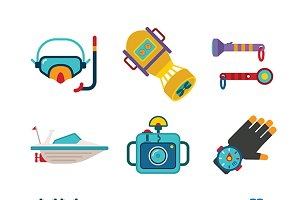 Diving iconset