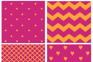 pattern with hearts pink color
