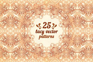 25 wonderful vintage vector patterns