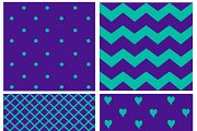 pattern with hearts and dots