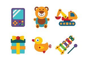 Kid toys iconset