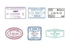 Visa passport stamps