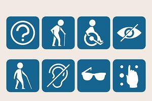 Disabled signs iconset