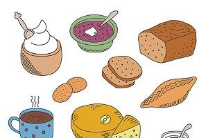 Doodle food images
