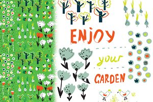 Garden nice design vector set
